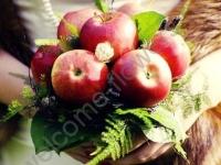 Свадебный букет с яблоками